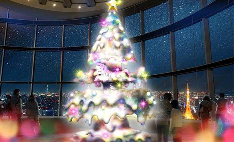 増田セバスチャンが六本木ヒルズ展望台のクリスマスツリーをプロデュース