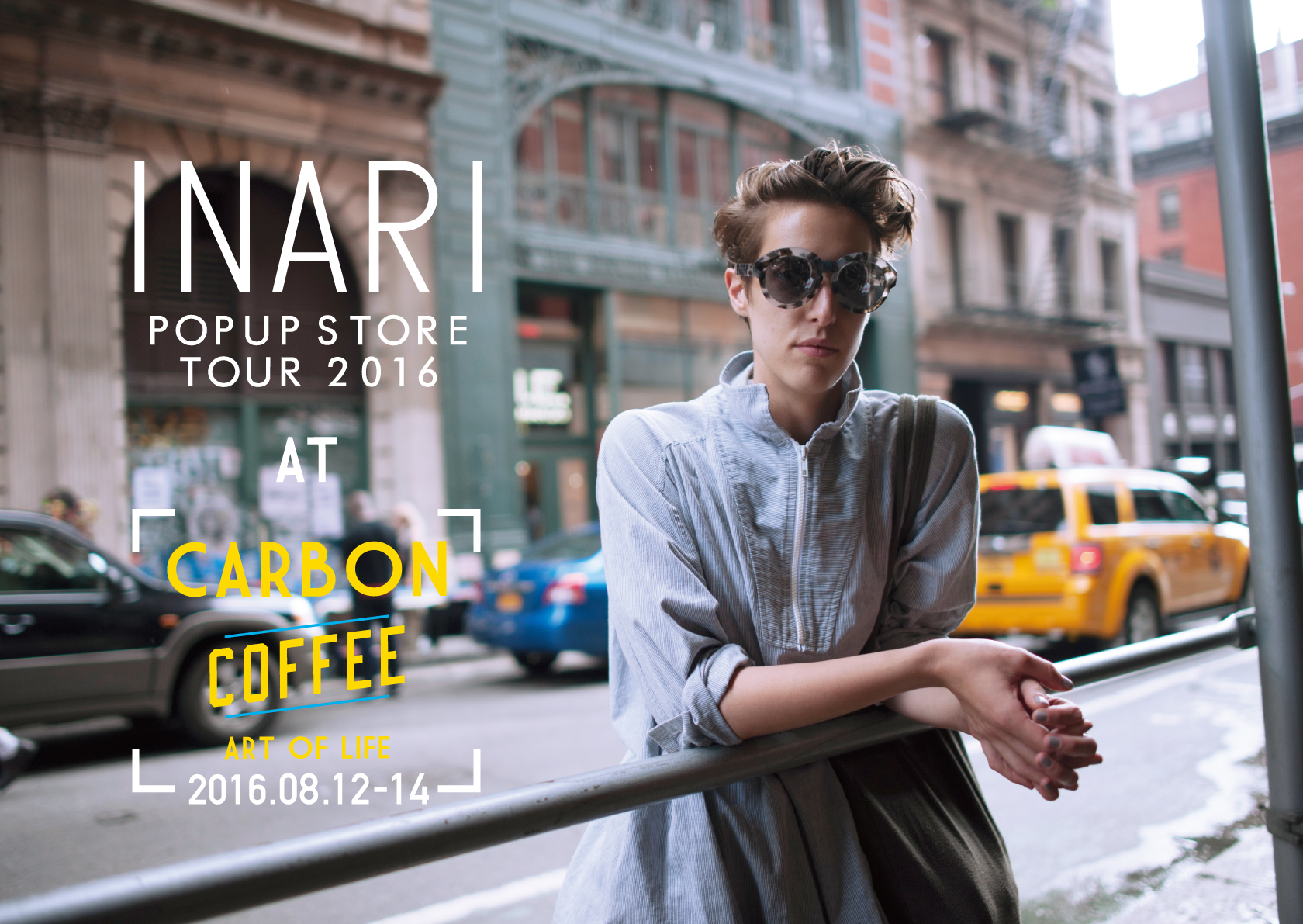 CARBONにてEYE WEAR ブランド、<INARI> のPHOTO EXHIBITION&POPUP SHOPを開催!