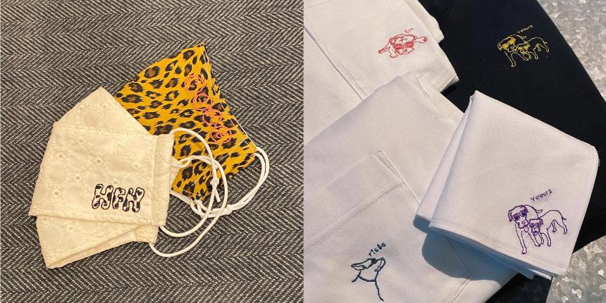リデクロ洋服リメイクの「リデクロ」にて矢部ユウナ、夏鈴デザインの刺繍サービスがスタート
