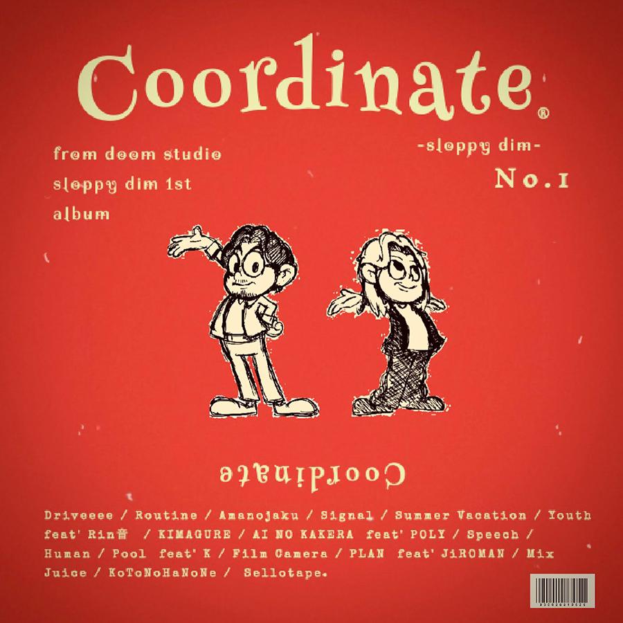 sloppy dim 1stアルバム『Coordinate』収録楽曲にPOLYが参加