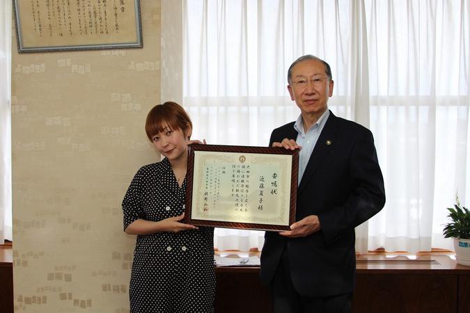 島根県大田市の観光大使、近藤夏子が3期目の就任